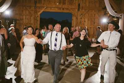 Dancing at a wedding reception